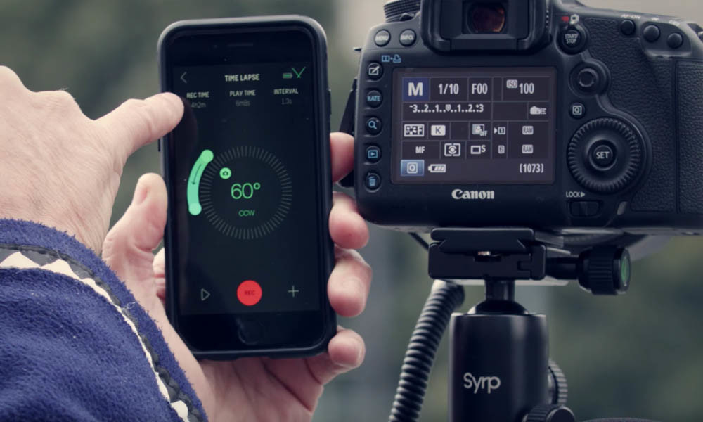 Pairing the Syrp Genie with your iPhone, and starting a new time-lapse