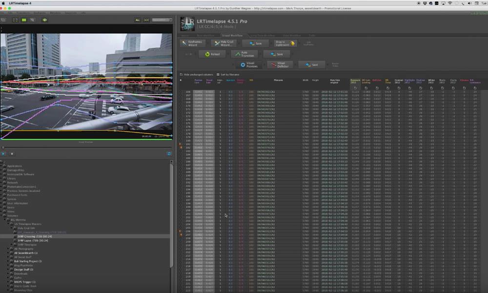 Creating Keyframes in LRTimelapse Pro