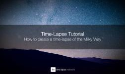 How to create a time-lapse of the Milky Way