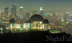 When night falls on the city of Los Angeles