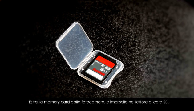 Extract your memory card..