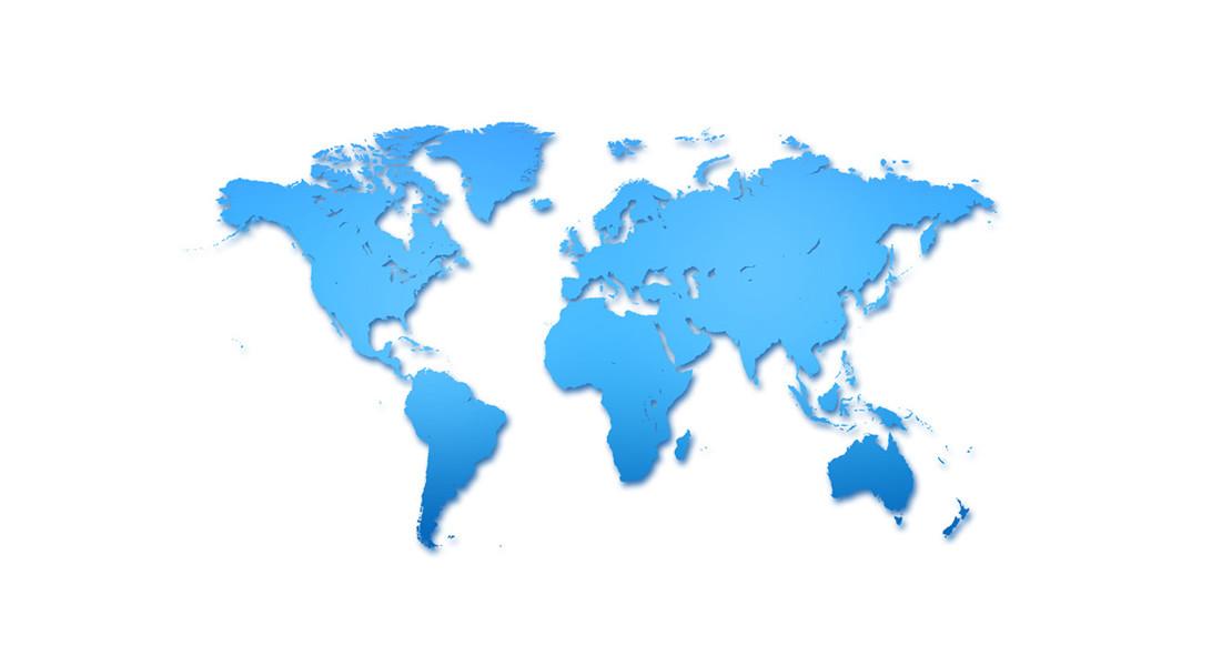 us on world map