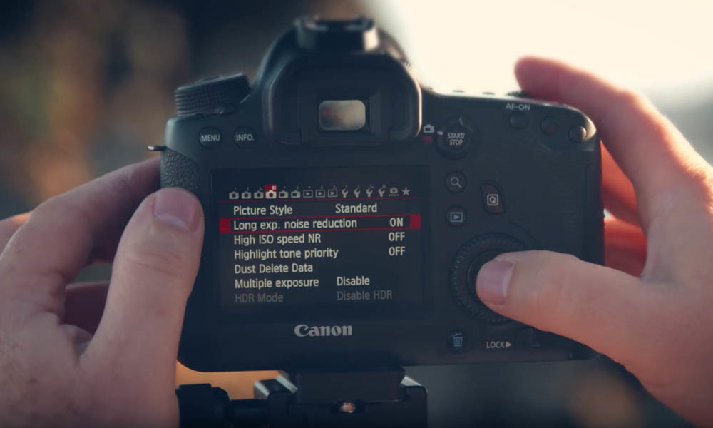 Make sure noise reduction is turned off when setting up your camera