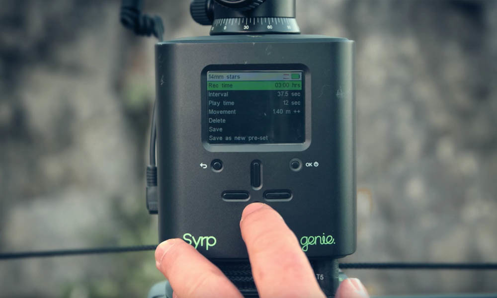 How to Setup the Syrp Genie for your astro time-lapse sequence