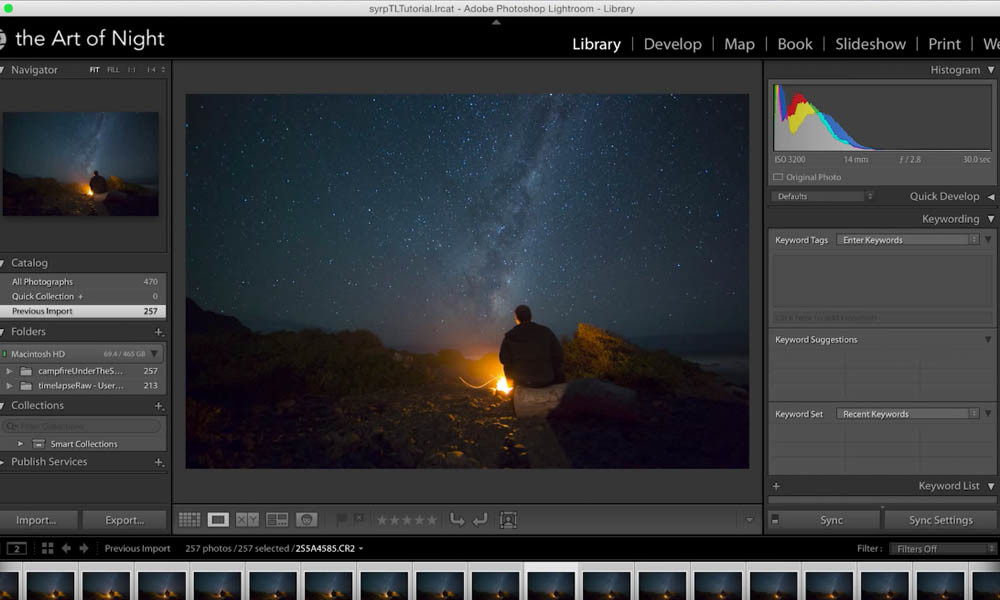 Astro time-lapse Post Production Workflow using Lightroom plus LRTimelapse